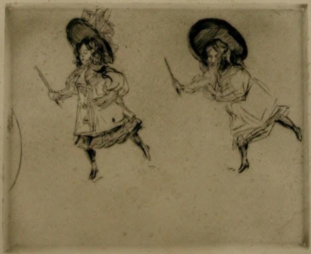 ポール・ルヌアール版画集『動き、身振り、表情』より。《輪遊びをする少女前方》
