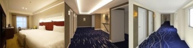 オリエンタルクオリティフロア廊下とツインルーム