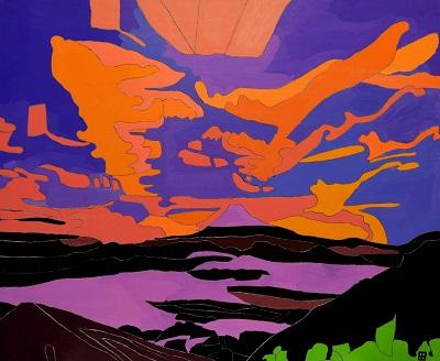 「富士山」 田中 正博 (65×80、パネル)