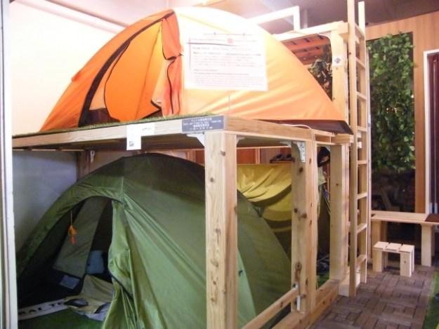 ベッドからテント場へ