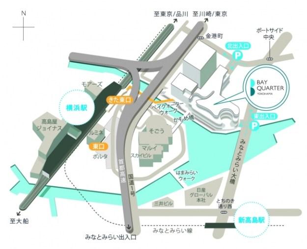 横浜ベイクォーターアクセスマップ