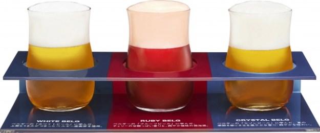 「ホワイトベルグ」「ルビーベルグ」「クリスタルベルグ」樽詰め3種飲み比べセット