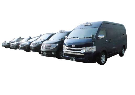 ホタルタクシーは車種を選ぶことが出来ます。