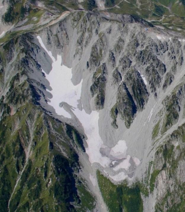 立山御前沢氷河(提供:立山カルデラ砂防博物館 飯田先生)
