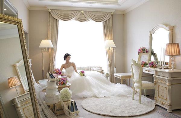ブライズルームはホテル客室最上階94平方メートルのロイヤルスイートルーム