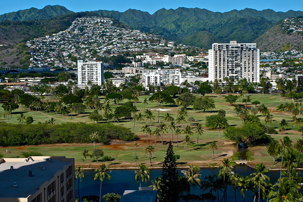 【ハワイ・グアム3位:ワイキキ パーク ハイツ】お部屋からの眺め