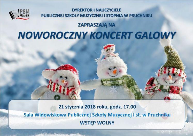 Plakat - Koncert Noworoczny w Pruchniku