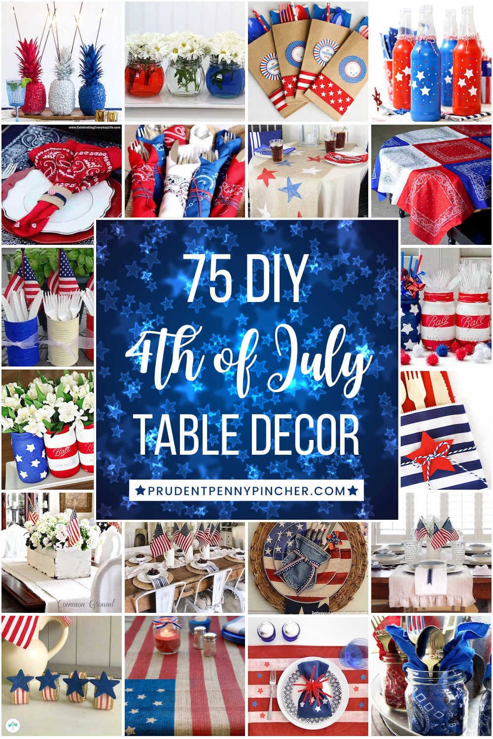 75 Diy 4th Of July Table Decorations Prudent Penny Pincher