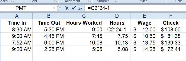 Eliminate Your Frustration with Excel Time Formulas! Pryor