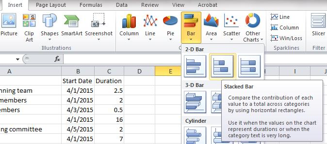 Share Big Picture Data with an Excel Timeline Chart Pryor Learning