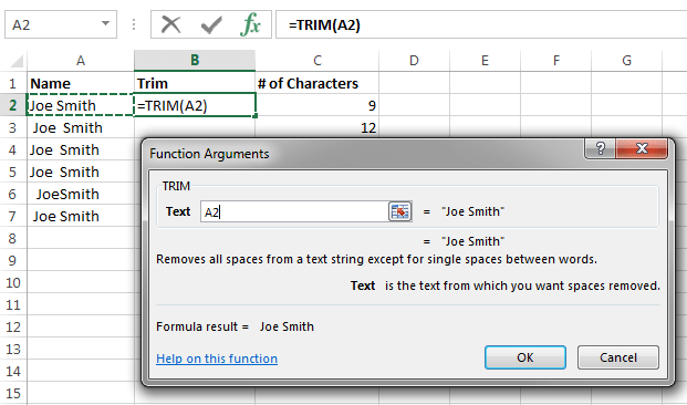 Remove Extra Spaces From Excel Data Pryor Learning Solutions