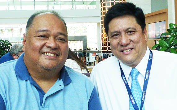 Jose Maria ('Chim') Esteban and Duty Free Philippines' COO, 'Lorenzo Enchong Formosa