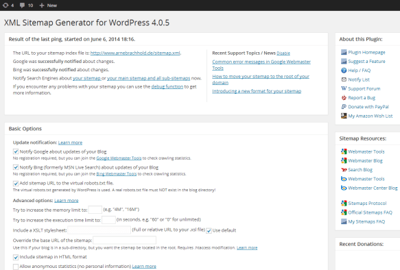 the wordpress seo plugins you must have installed youonly
