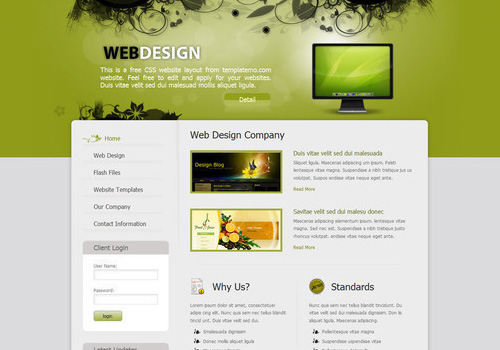 34 Free  Beautiful xHTML/CSS Templates PSDFan - Nice Templates
