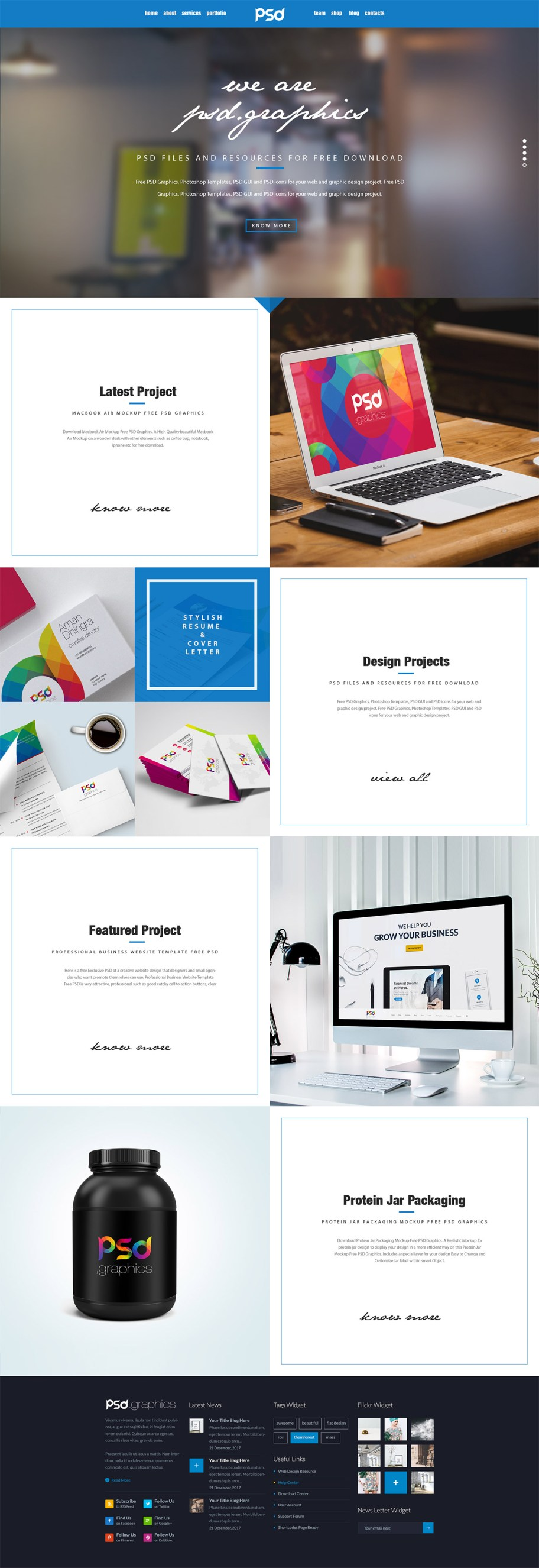 Personal-Portfolio-Website-Template-Free-PSD-Graphics