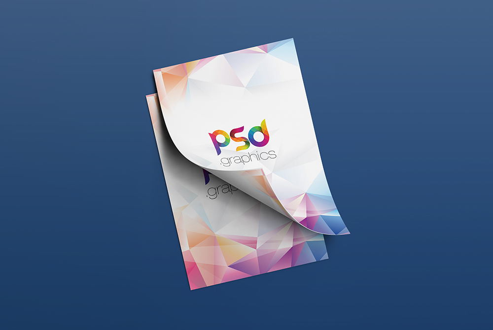 free leaflet template psd