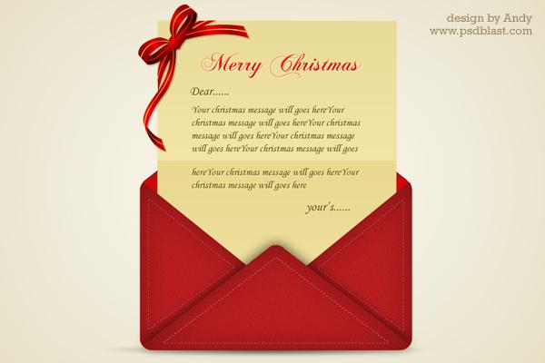 Christmas greetings letter PSD Psdblast - christmas card letter templates