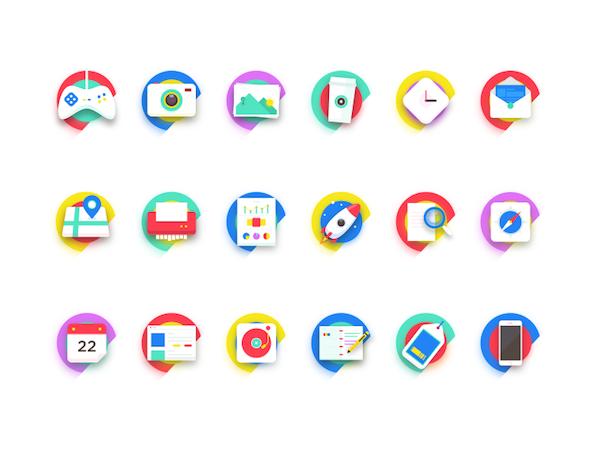 original symboles icones couleurs cv