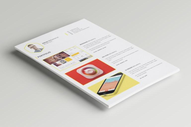 free psd cv  resume template  u2013 psdboom