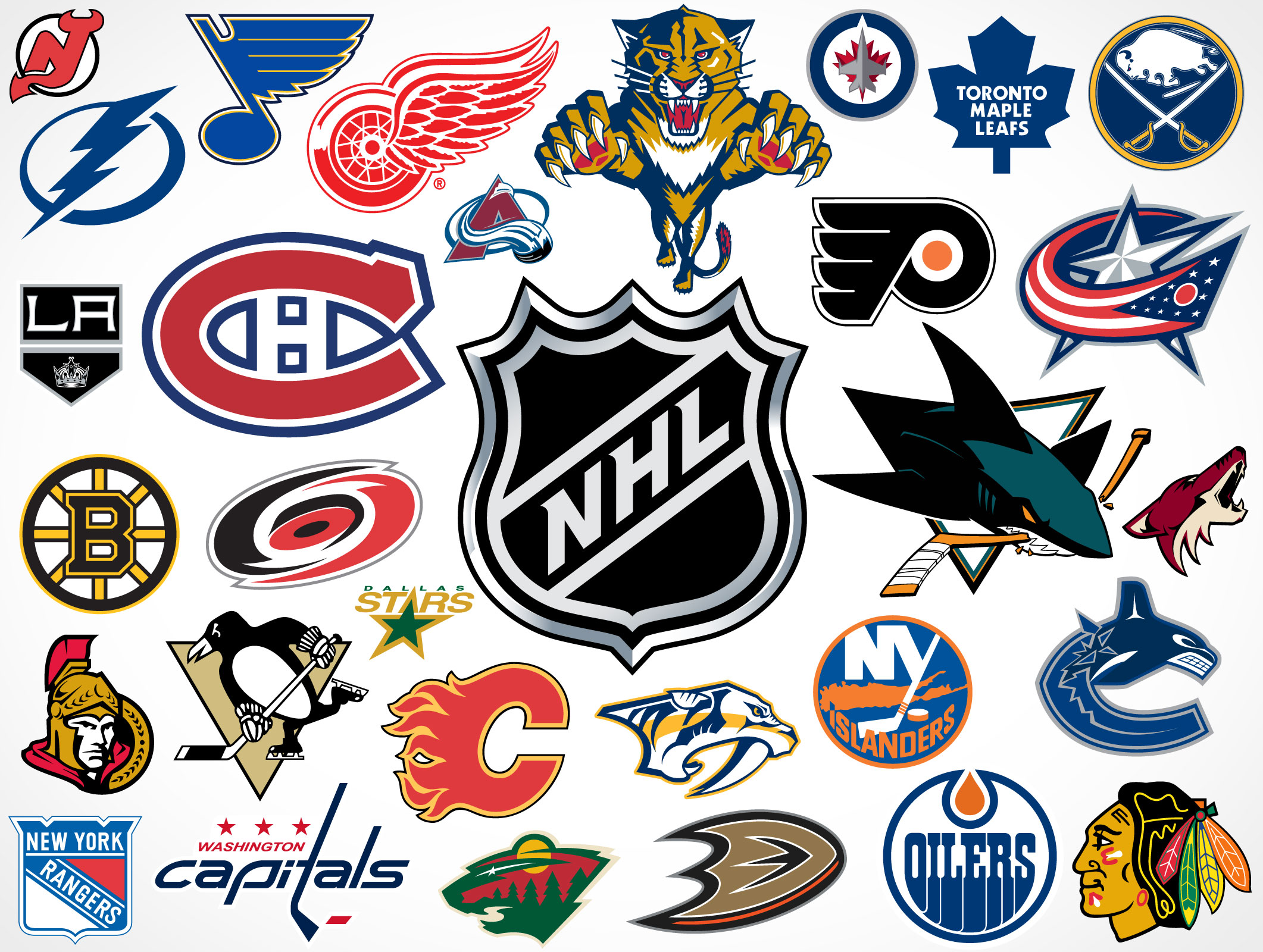 Hockey Logos National Hockey League Team Vector Logos Market Your Psd Mockups