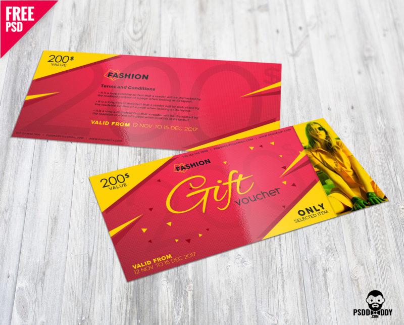 Download Fashion Gift Voucher Free Psd Psddaddycom