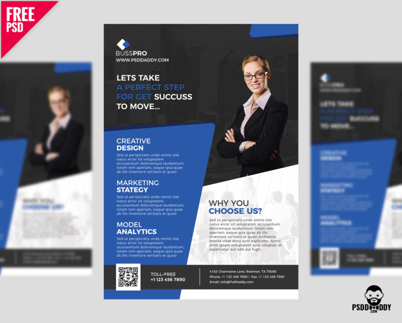 Download Business Flyer Template Free PSD PsdDaddy - advertisement flyer template
