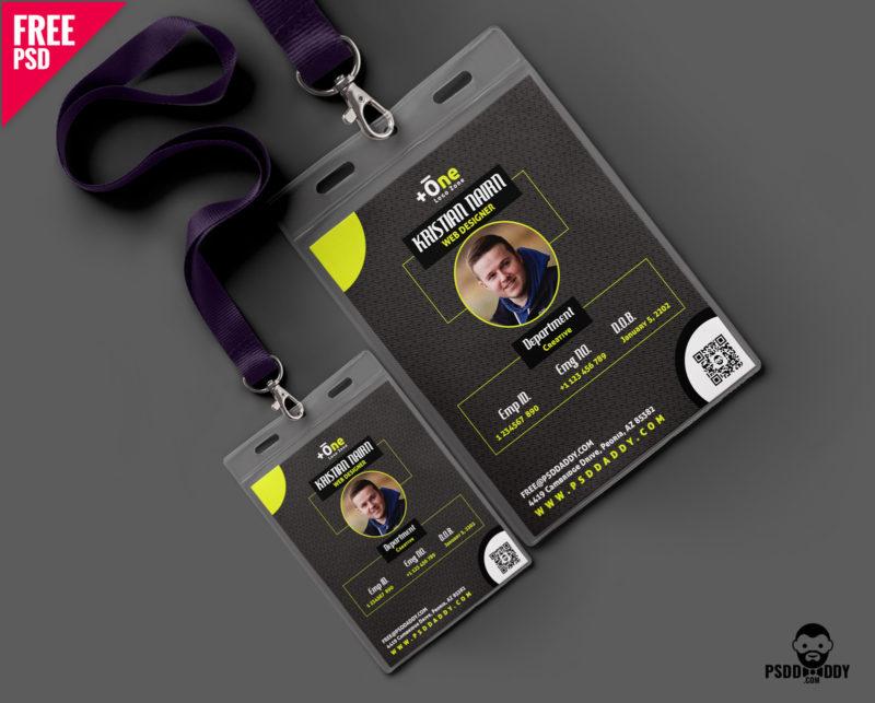 Free Creative Office Identity Card Free PSD PsdDaddy