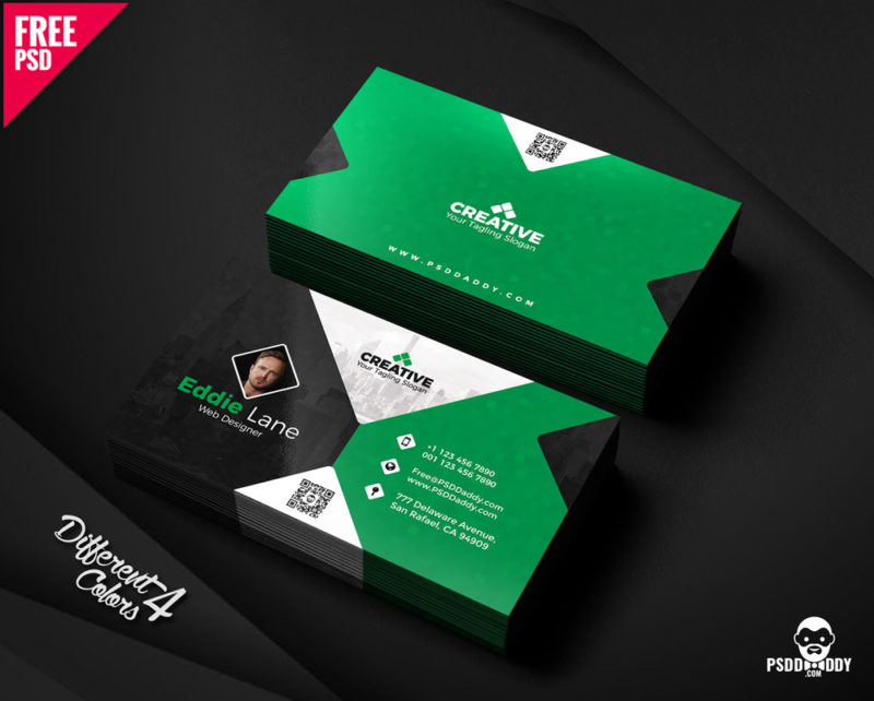 Free Business Card Design Templates Bundle PsdDaddy