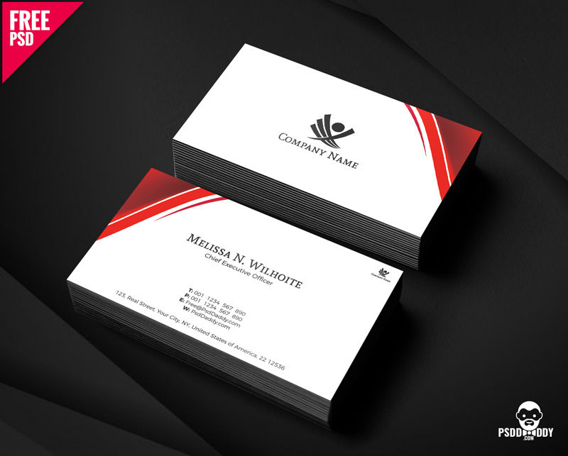 Free Corporate Business Cards Design PSD PsdDaddy