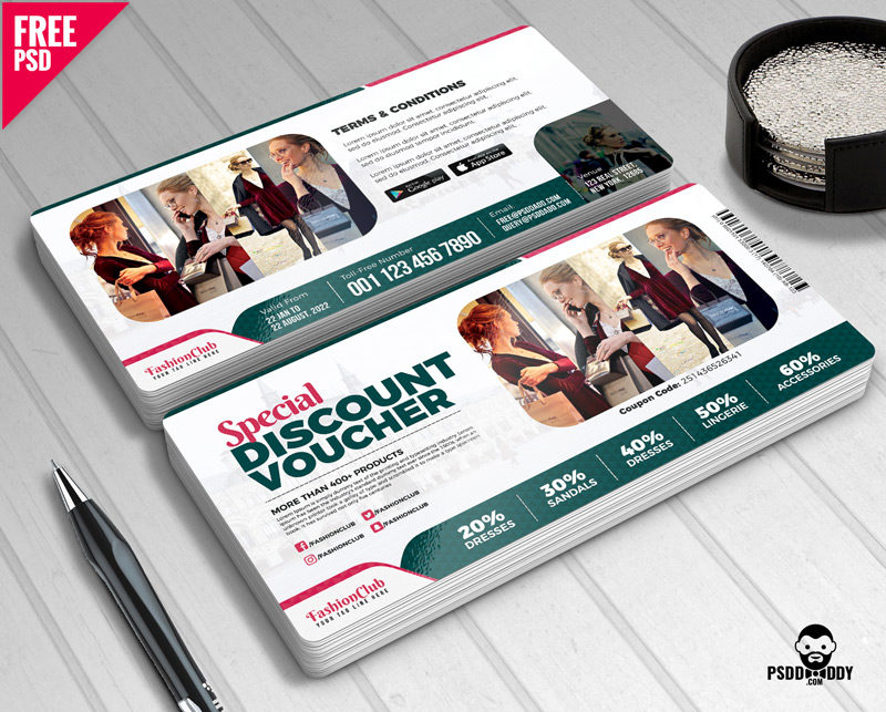 Download Special Discount Voucher Free PSD PsdDaddy