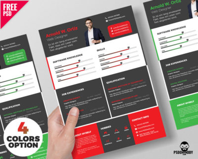 Download Simple Resume Design Free PSD PsdDaddy
