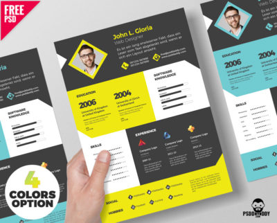 Creative Resume CV PSD Template PsdDaddy