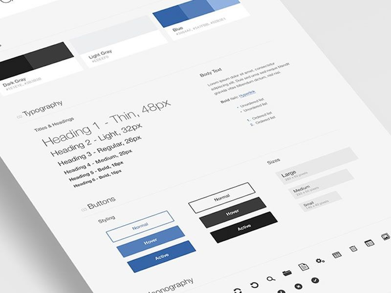 Free UI Style Guide Template for Photoshop - PSDDD - free user guide template