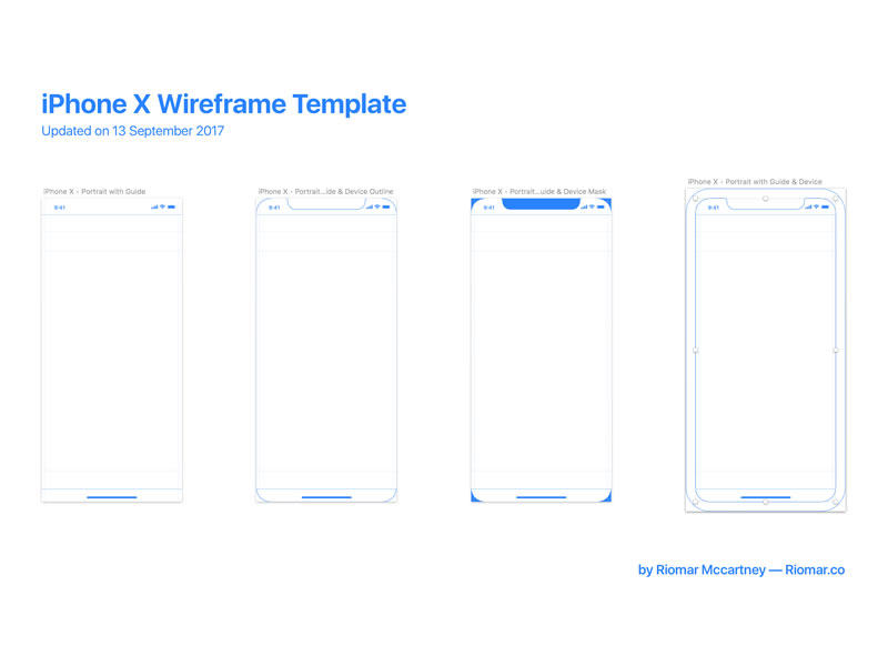 iPhone X Wireframe Template with Guides - PSDDD - wireframe templates