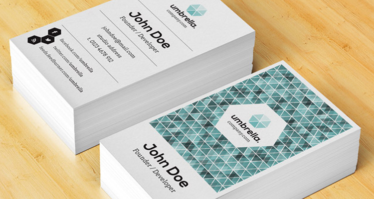 Corporate Business Card Vol 4 \u2013 PSD FACT - portrait business card