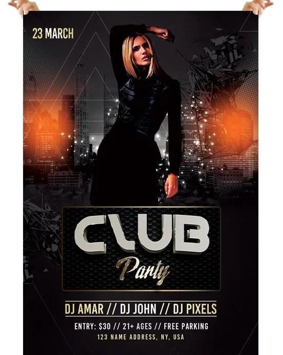 Club Party \u2013 Free PSD Flyer Template - psdFlyer