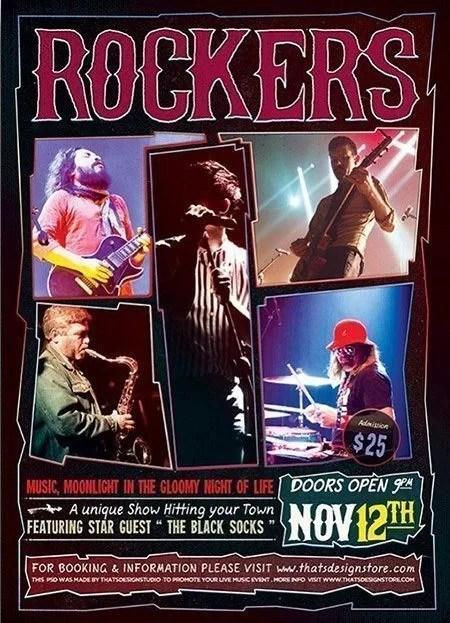 Rock Concert Free PSD Flyer Template - psdFlyer