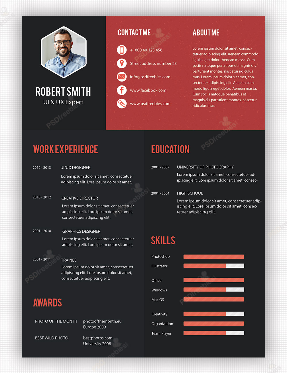 creative professional cv design