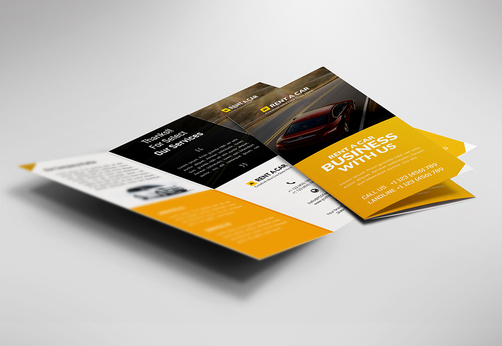Car Dealer and Services Trifold Brochure Free PSD PSDFreebies