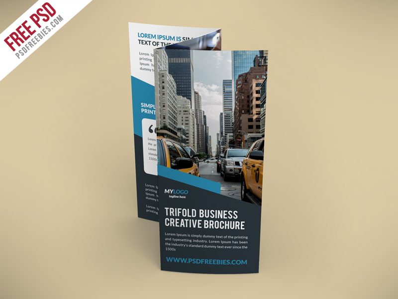 Creative TriFold Brochure Free PSD Template PSDFreebies