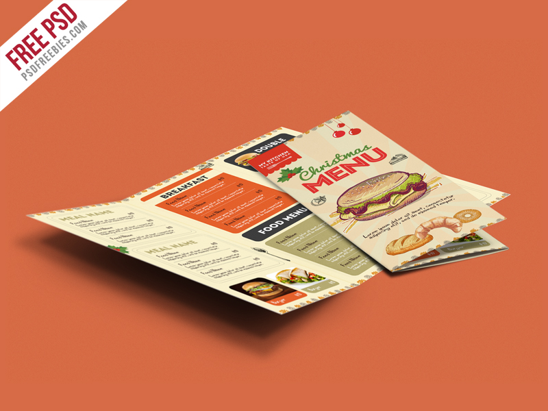 Retro Restaurant Food Menu Brochure Free PSD PSDFreebies