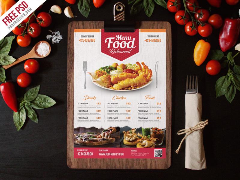 Simple Restaurant Food Menu Flyer Template PSD PSDFreebies