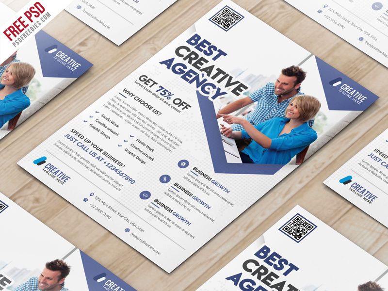 Business Marketing Flyer Free PSD Template PSDFreebies