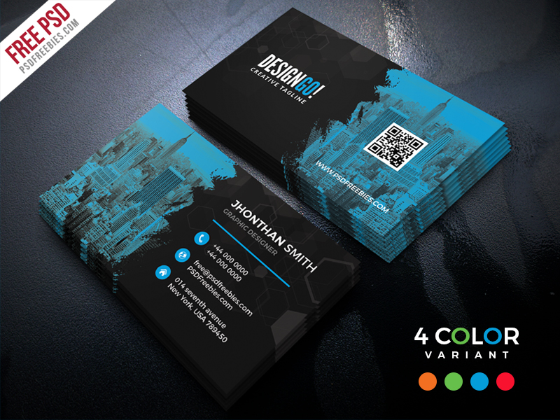 Free Corporate Business Card PSD Bundle PSDFreebies