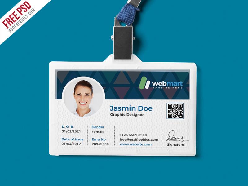 Office ID Card Design PSD PSDFreebies
