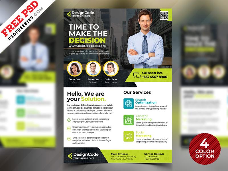 Corporate Flyer Design Templates Free PSD PSDFreebies