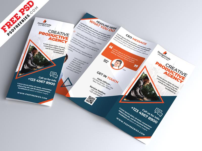 Multipurpose Tri-fold Brochure Design PSD PSDFreebies