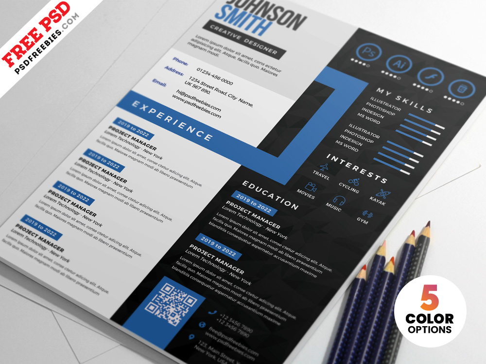 Resume Templates \u2013 PSDFreebies