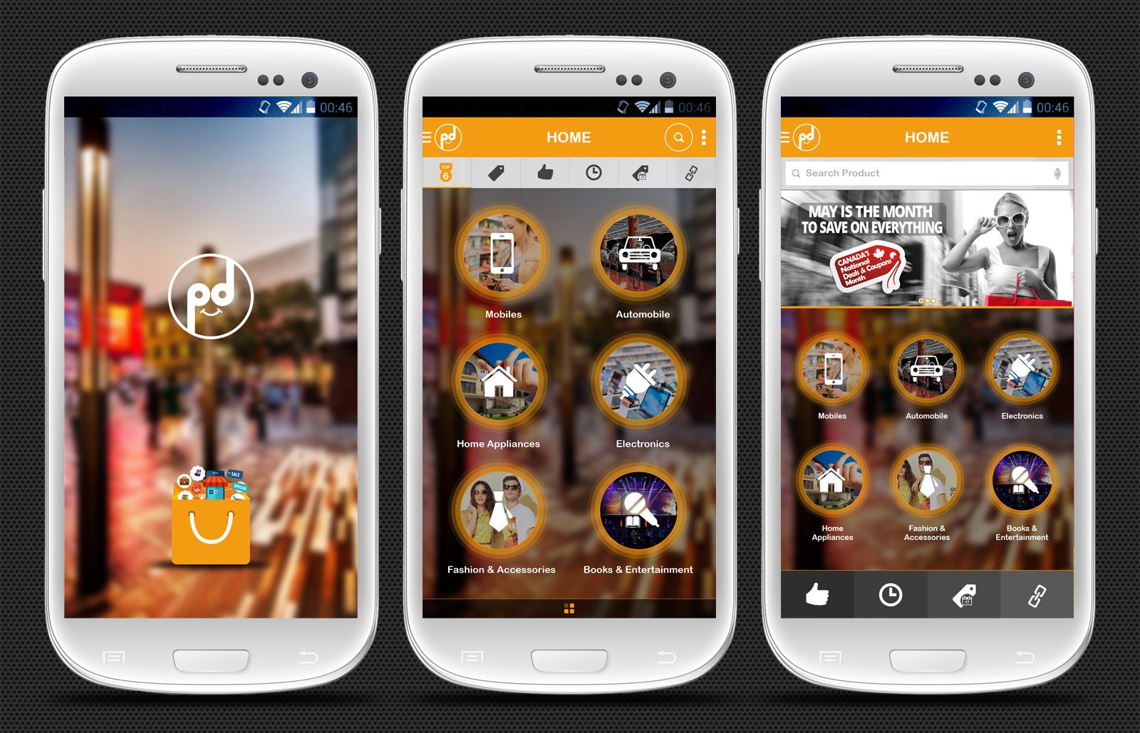 Iphone Wallpaper Psd Template Shopping App Concept Design