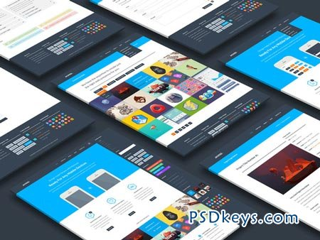 Perspective Website Mockup 32748 » Free Download Photoshop Vector